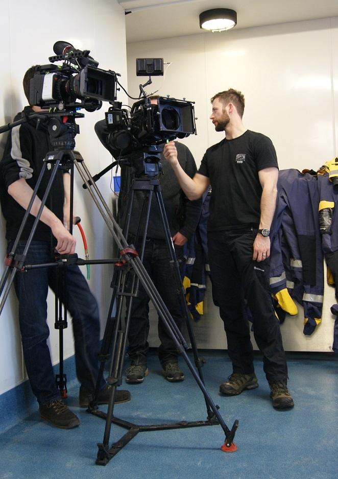 George Denoon filming