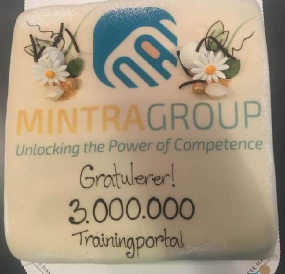 Celebrating 3.000.000 course registrations in TRAININGPORTAL